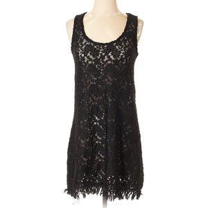 Patterson J. Kincaid Black Lace Casual Dress